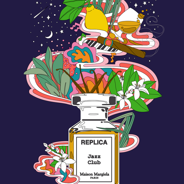 REPLICA JAZZ CLUB ILLUSTRATED POSTER
