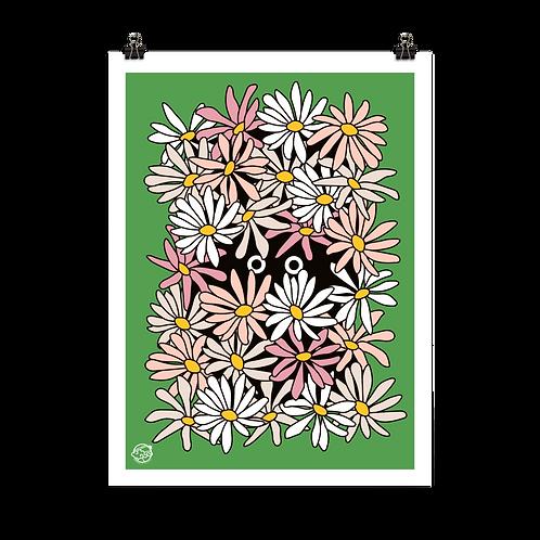 Unframed Shy Wallflower Print