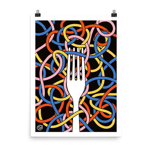 Unframed Pasta Knots Print