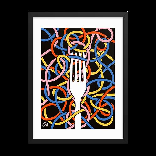 Framed Pasta Knots