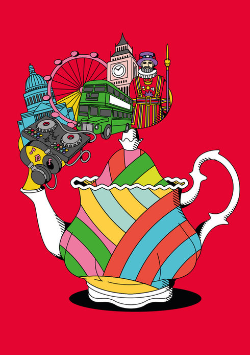 "BEEFEATER GIN – ""LONDON SPIRIT"" book illustrations"