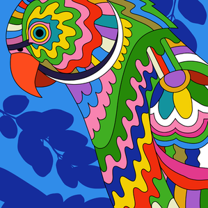 PSYCHEDELIC LONDON PARAKEETS