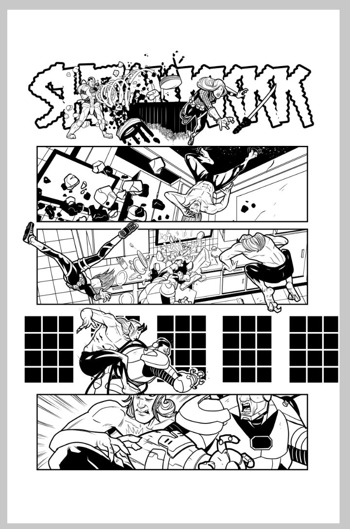 Teen Titans sample script