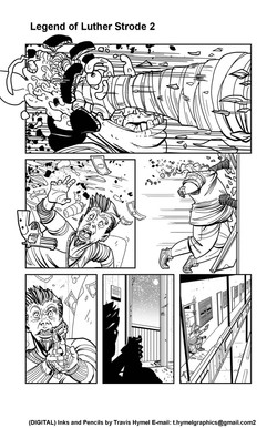 Legend of Luther Strode Sample page