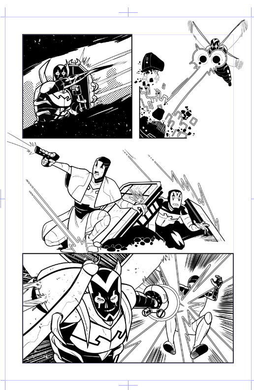 Blue Beetle sample pg4