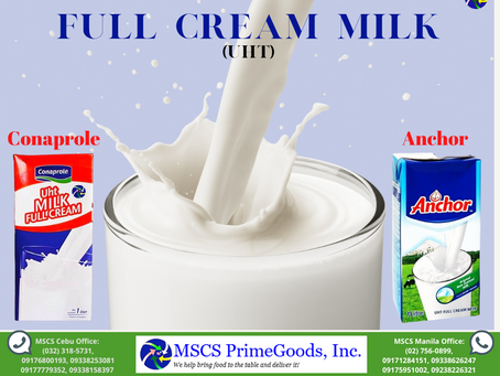 Full Cream Milk (UHT) Supplier