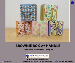 Brownie Box with Handle Supplier