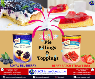 Comstock & Sunbest Pie Fillings & Toppings Supplier