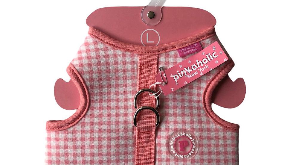 Harnais veste vichy rose Pinkaholic