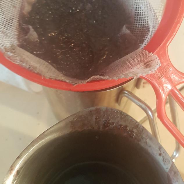 Preparación del tinte de la grana