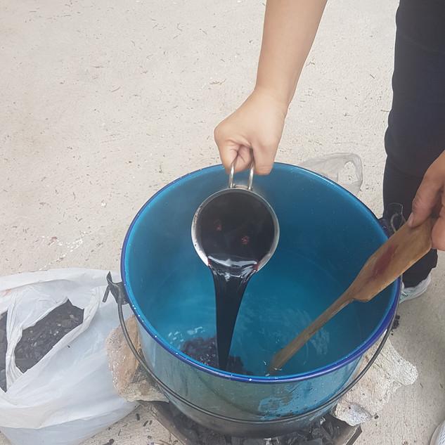 Preparación de la olla