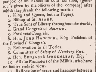 """""""True Sons of Liberty Throughout the World"""" - The Toasts of Newburyport"""