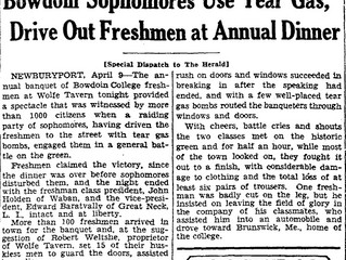 Tear Gas and Brawls - When Bowdoin Students Go Wild in the Wolfe Tavern!