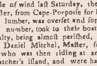 """""""We Had a Very Heavy Gale of Wind"""" - The November 1774 Gale"""