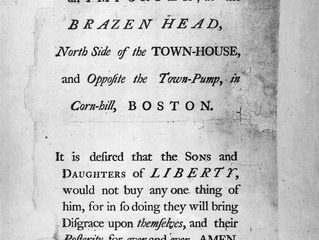 """Threatened to Destroy the Carriadge"" - When Loyalists Arrived in Newburyport"