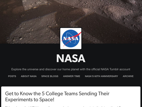 UNH at Manchester Team Chosen to Send Experiment to ISS