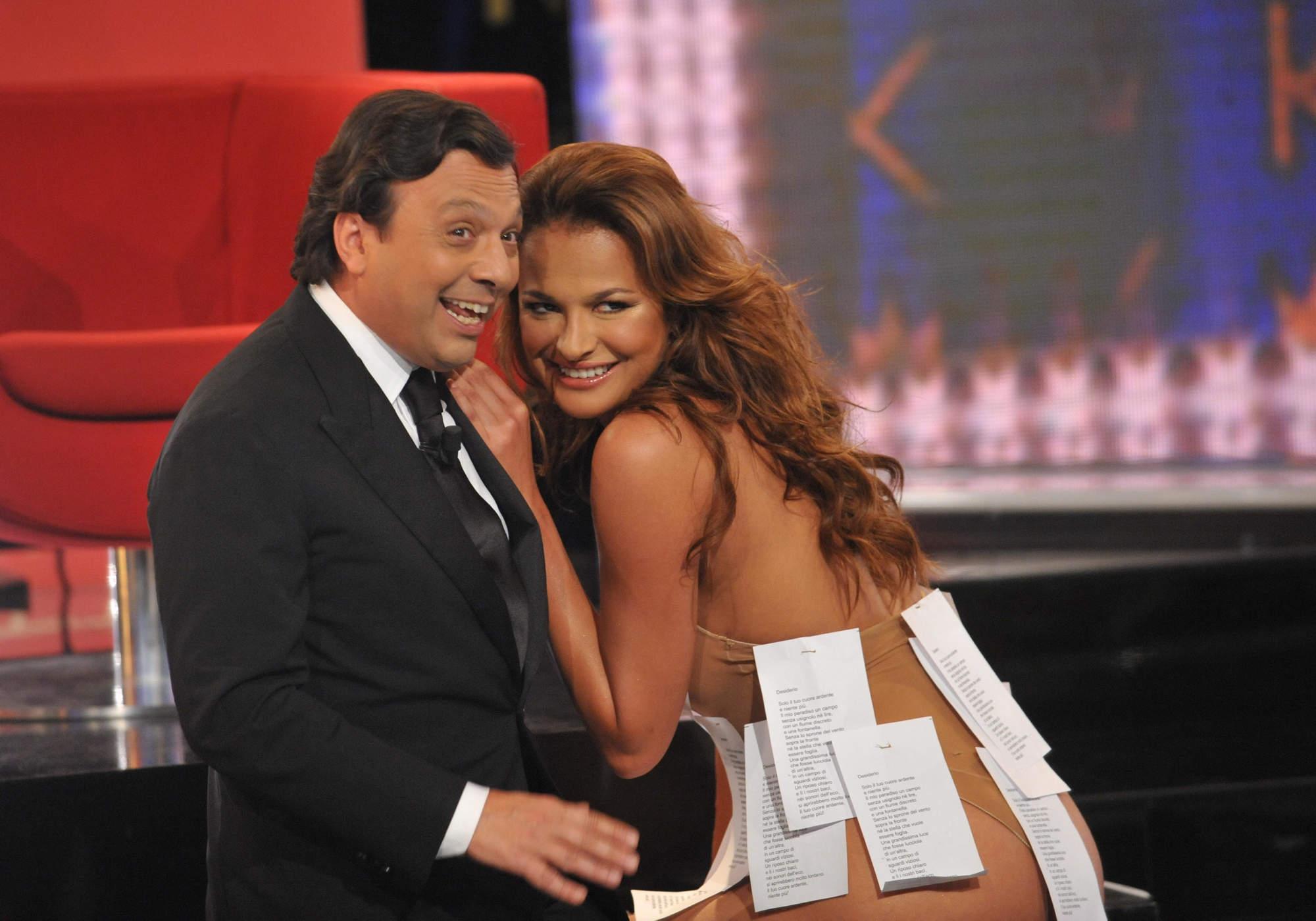 Chiambretti e Magda Gomez