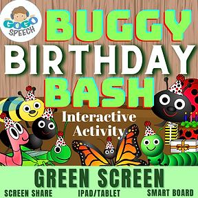 Buggy Birthday Bash Interactive Activity by GoGo Speech