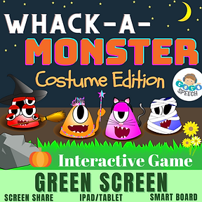 Whack-A-Monster Costume Edition Interactive Game by GoGo Speech