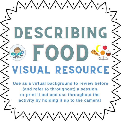 Describing Food Visual