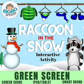 Raccoon in the Snow Interactive Activity by GoGo Speech