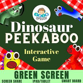 Dinosaur Peekboo Interactive Game by GoGo Speech