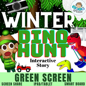 Winter Dino Hunt Interactive Story by GoGo Speech