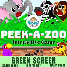 Peek-A-Zoo Interactive Game by GoGo Speech