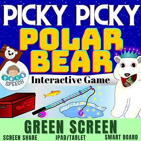 Picky Picky Polar Bear Interactive Game by GoGo Speech
