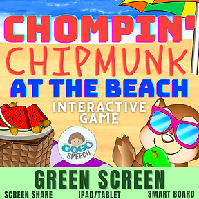 Chompin' Chipmunk at the Beach Interactive Game by GoGo Speech
