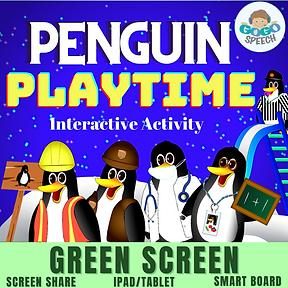 Penguin Playtime Interactive Activity by GoGo Speech