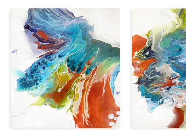 Learning to Fly (diptych)