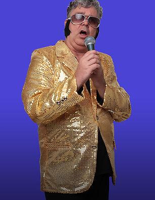 Komiker Hugi als Elvis Living Doll