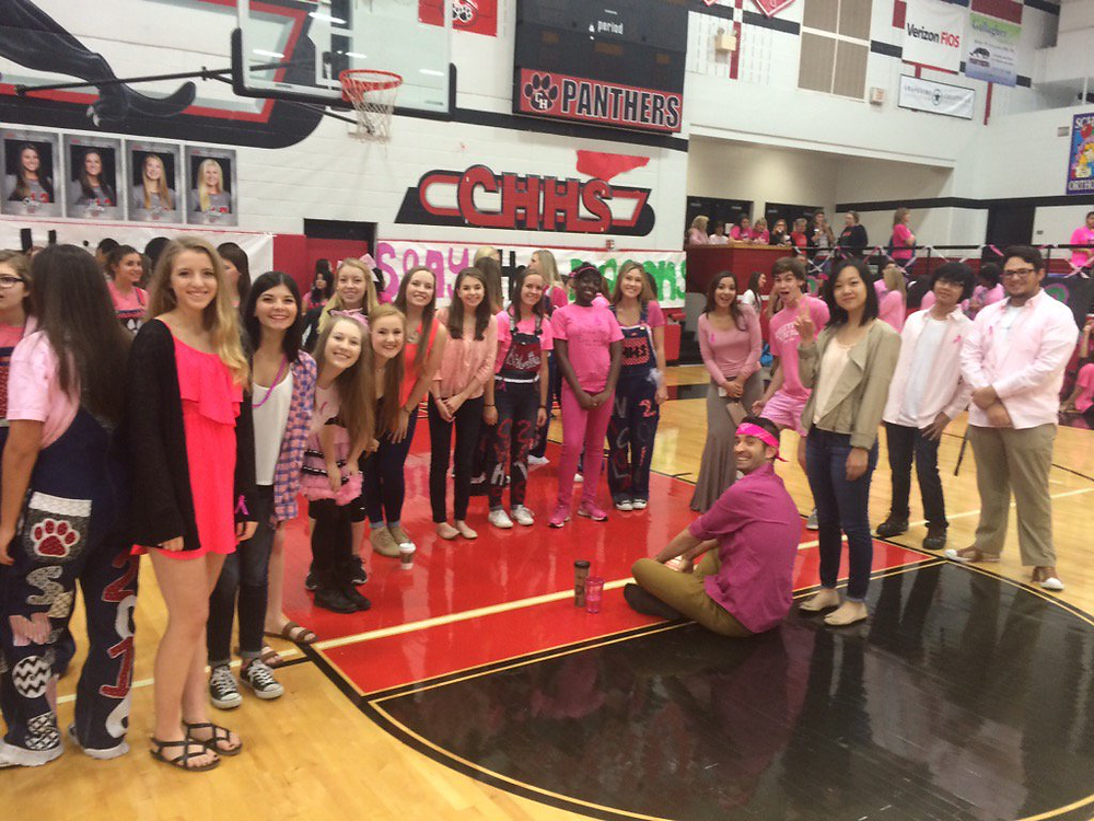 Seniors Pink Out Pep Rally