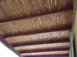 Wood & cane pergola - Mani