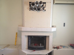 Closed hearth fireplace - Mani