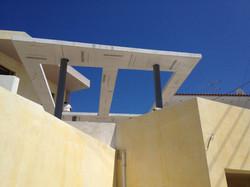 Metal & concrete board awning - Mani