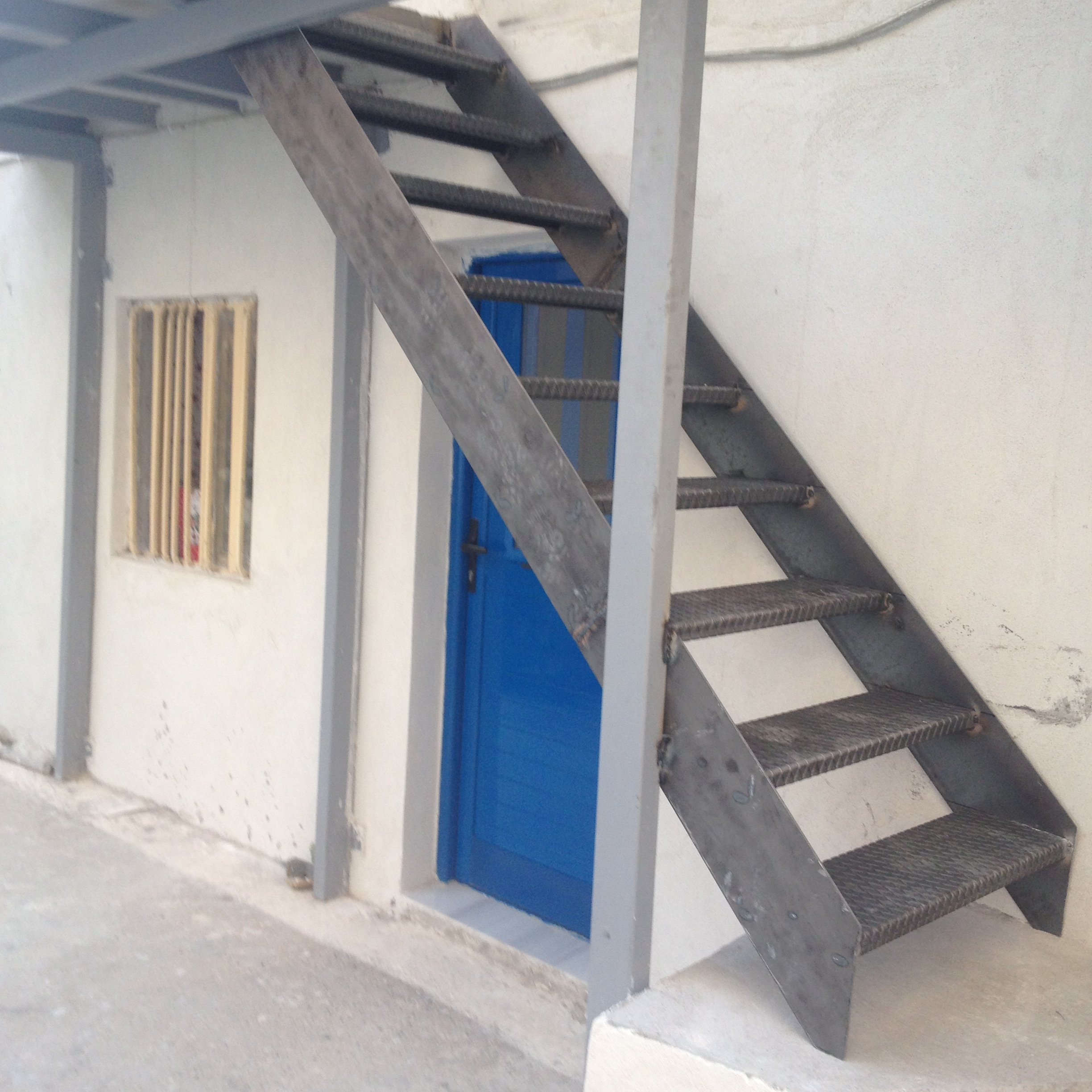 External metal staircase - Gythion