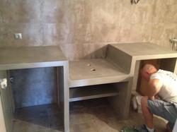 Concrete kitchen countertop - Mani