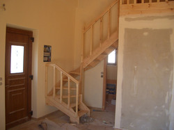 Wooden staircase - Drywall - Gythion