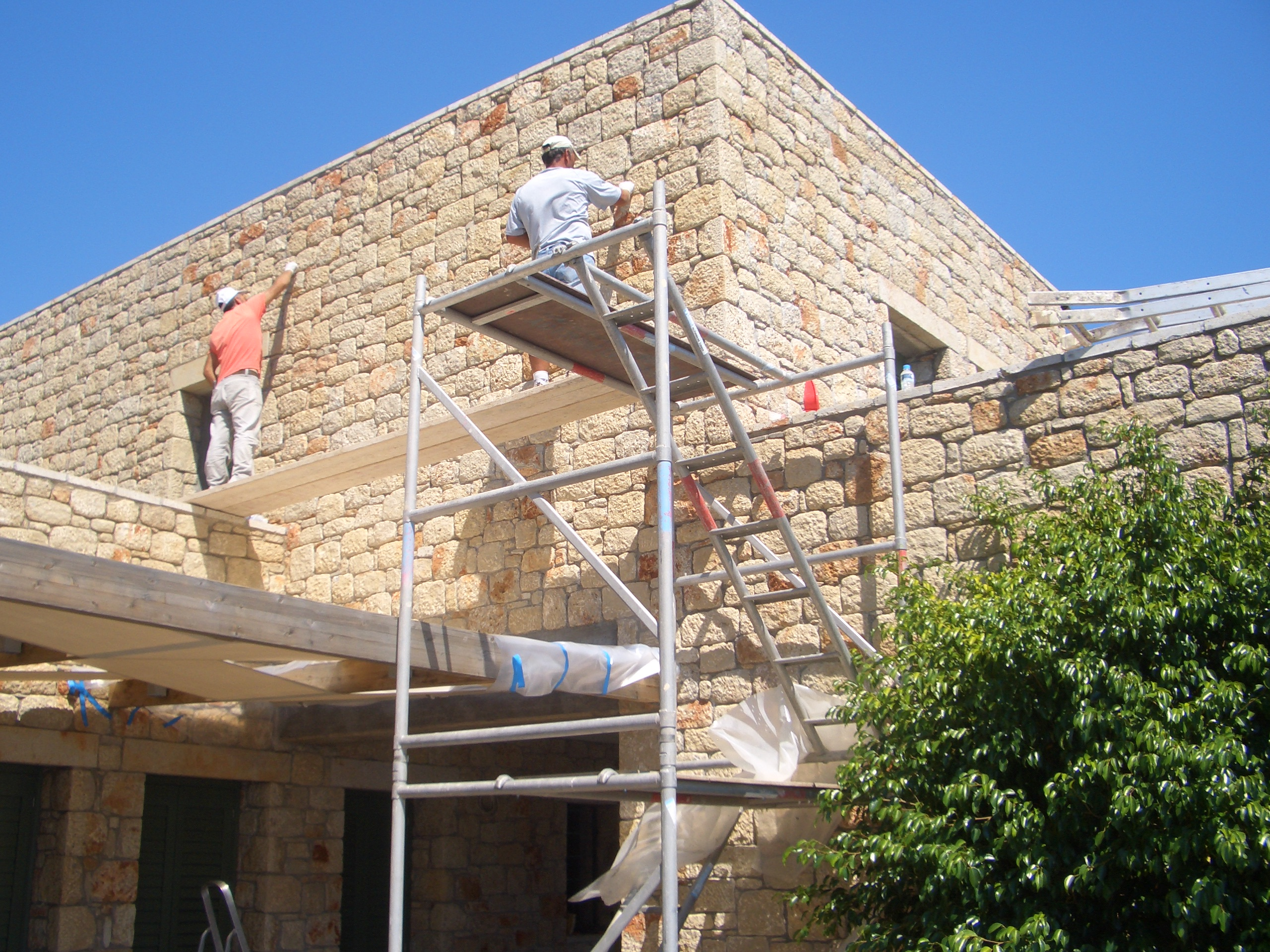 Stonework repair & waterproofing