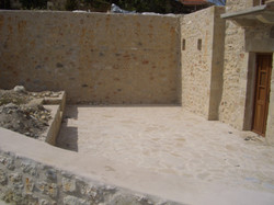 Landscaping - stone terrace - Mani