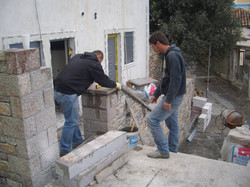 Porch & boundary wall construction