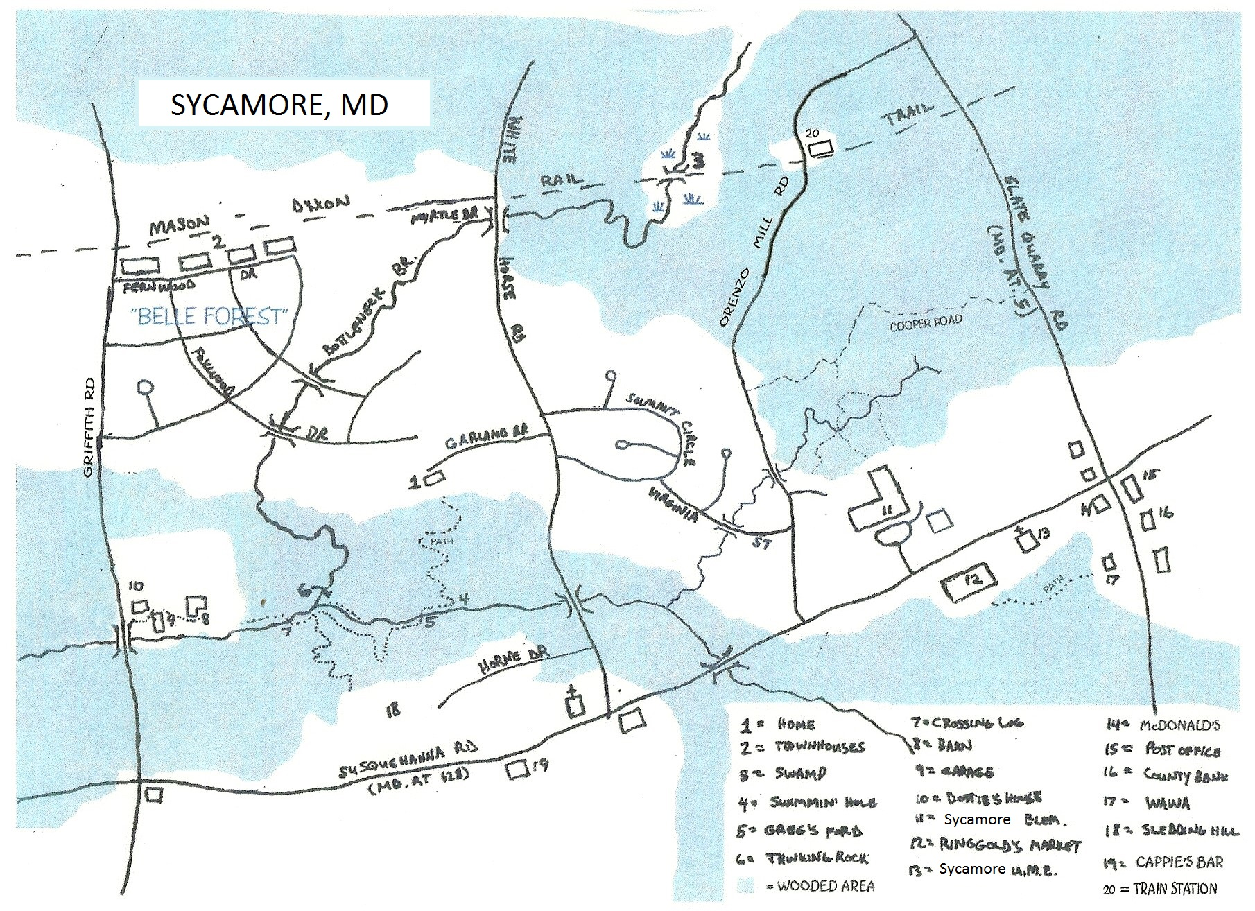 Map of Sycamore
