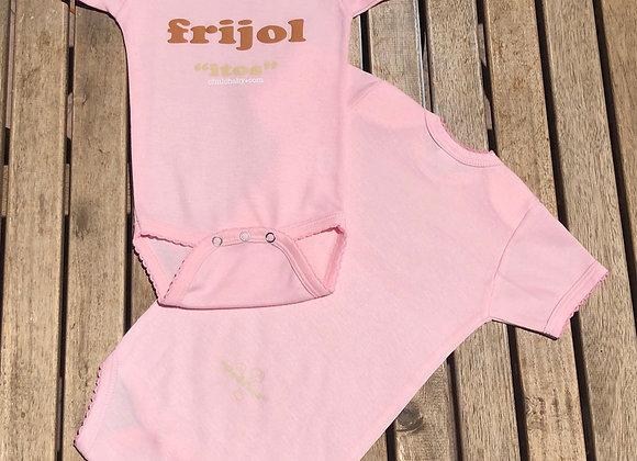 Frijolitos/Peditos Pink Onesie