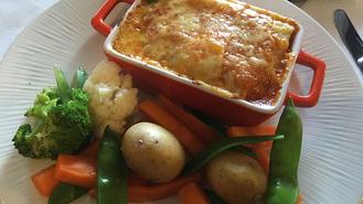 Roast Aubergine and Red Pepper Lasagne