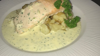 Salmon and Sautee potato