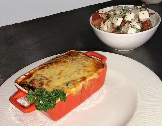 Moussaka and Feta Salad