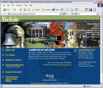 Beloit College Website Design