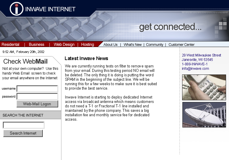 Inwave Internet Website